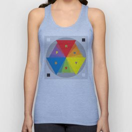 Color wheel by Dennis Weber / Shreddy Studio with special clock version Unisex Tank Top