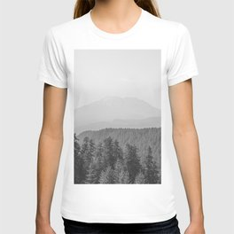 Lookout Ridge - Black and White Mountain Nature Photography T-shirt
