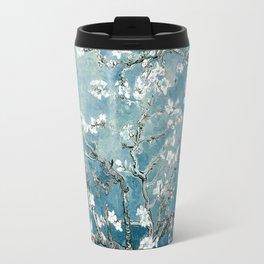 Vincent Van Gogh Almond Blossoms Teal Travel Mug