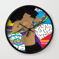 hat Wall Clocks featuring Hat by TheArtGoon