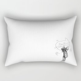 Crappy Cat 1! Rectangular Pillow