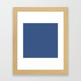 Nouvean Navy // Pantone 19-3832 TCX Framed Art Print