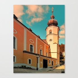 The village church of Helfenberg VII   architectural photography Canvas Print