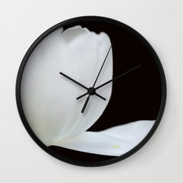 Artistic white tulip Wall Clock