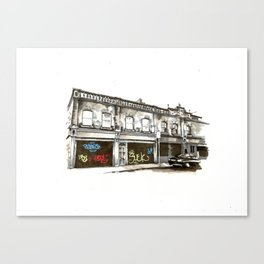 Shutters, Grantham Street, Dublin Canvas Print