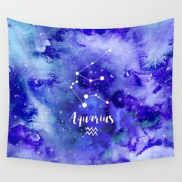 Aquarius Constellation Wall Tapestry