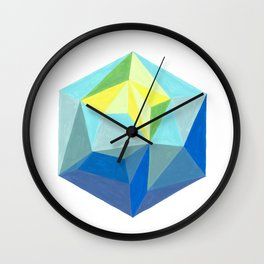 Polygonal art 1 Close up Wall Clock