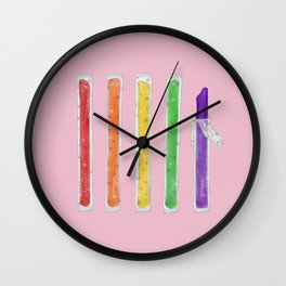 Rainbow Freeze Pops Wall Clock