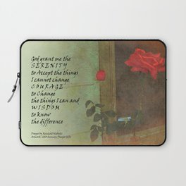 Serenity Prayer Rose and Door Laptop Sleeve
