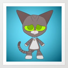 Max Cat Art Print