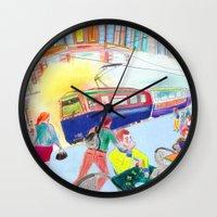 lemon Wall Clocks featuring Lemon by ARTION
