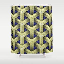 GS Geometric Abstrac 04A2YFX1 S6 Shower Curtain