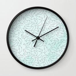 Belugas party Wall Clock