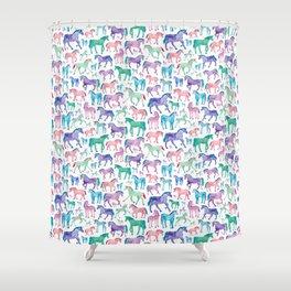 Pastel Unicorn Pattern Shower Curtain