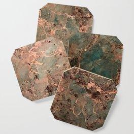 Marble Emerald Copper Blue Green Coaster