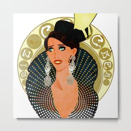 Miz Cracker - Art Nouveau Bust Metal Print