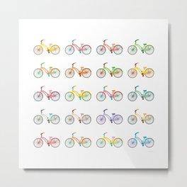 Colorful bikes Metal Print