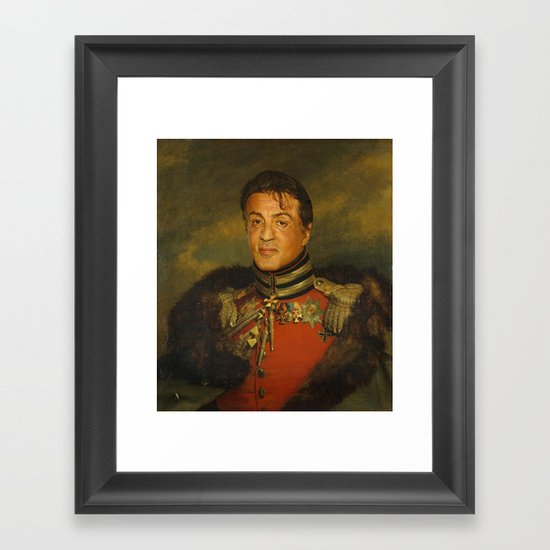 Sylvester Stallone - replaceface Framed Art Print