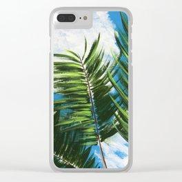 Calm Palms Clear iPhone Case