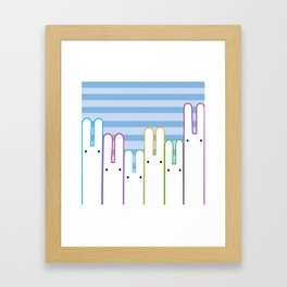 Bunny Buddies Framed Art Print