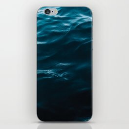 Minimalist blue water surface texture - oceanscape iPhone Skin