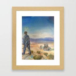Motor Oil for Suntan Oil Framed Art Print