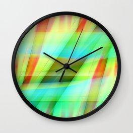 Multicolored abstract no. 31 Wall Clock