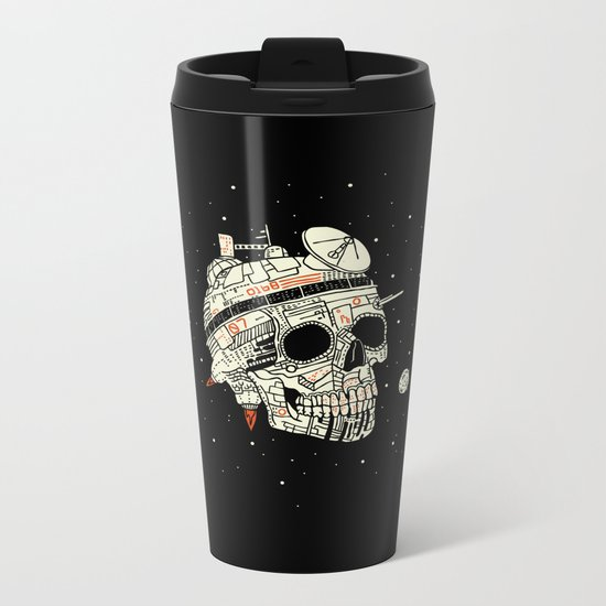 Planet Space Skull  Metal Travel Mug