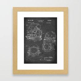 Diving Helmet - Patent #3,353,534 - H. J. Savoie Jr. - 1967 Framed Art Print