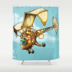 Flying Machine Shower Curtain