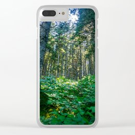 Mossy Heights Clear iPhone Case