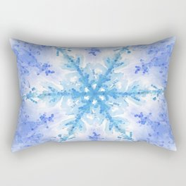 Snow Crystal Rectangular Pillow
