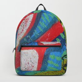 Abstract landscape - bright, eye-opening, vibrant color piece Backpack
