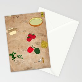 puff pastry pizza recipe Stationery Cards