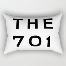 701 North Dakota Area Code Typography Art Rectangular Pillow