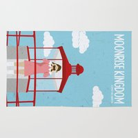 moonrise kingdom Area & Throw Rugs featuring Moonrise Kingdom-2 by gokce inan