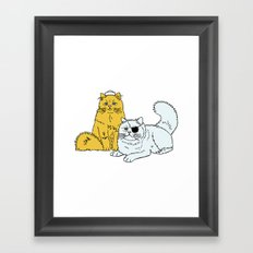 Navy Cats Framed Art Print