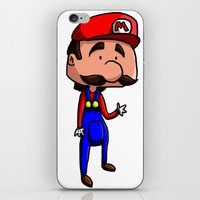 mario bros iPhone & iPod Skins featuring Mario - Super Mario Bros by Dorian Vincenot