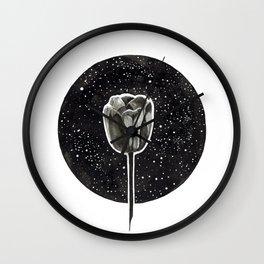 Black Tulip Wall Clock