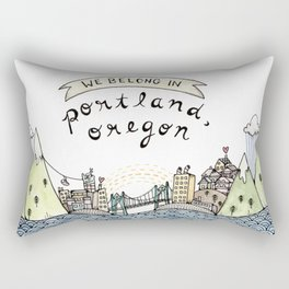 We Belong in Portland Rectangular Pillow