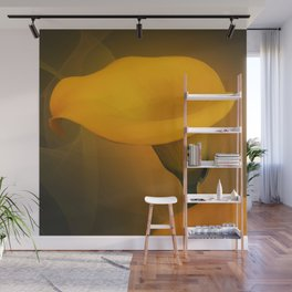 Calla Lily Warm Yellow Mist Background Wall Mural