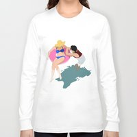 pool Long Sleeve T-shirts featuring Pool by ministryofpixel