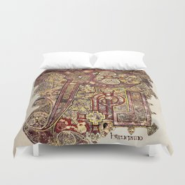 Book Of Kells Chi Rho Page Duvet Cover