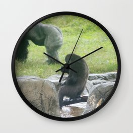 Grabbing a drink Wall Clock