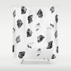 Marble Fragments Shower Curtain