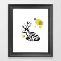 simply deer Framed Art Print
