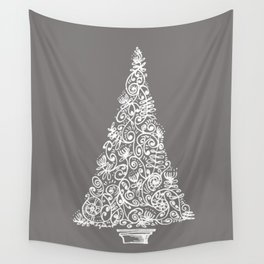 A Christmas tree in New Zealand Wall Tapestry