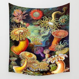 Under the Sea : Sea Anemones (Actiniae) by Ernst Haeckel Wall Tapestry
