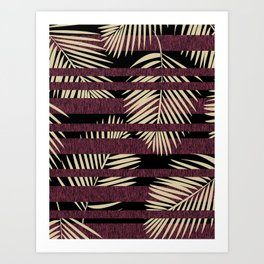 Tropical Stripe Art Print