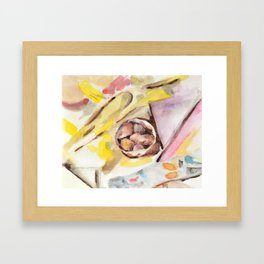S_huffled G_eometry Framed Art Print